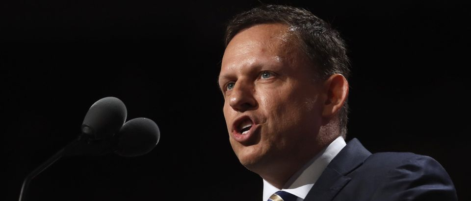 Peter Thiel, co-founder of PayPal, speaks at the Republican National Convention in Cleveland