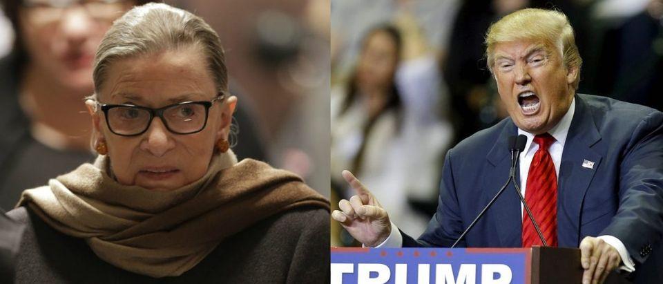 Ruth Bader Ginsburg, Donald Trump, Images via Reuters
