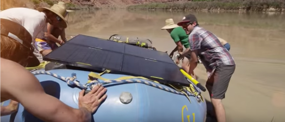 Rafting in North Face (Photo via The North Face/YouTube Screenshot)