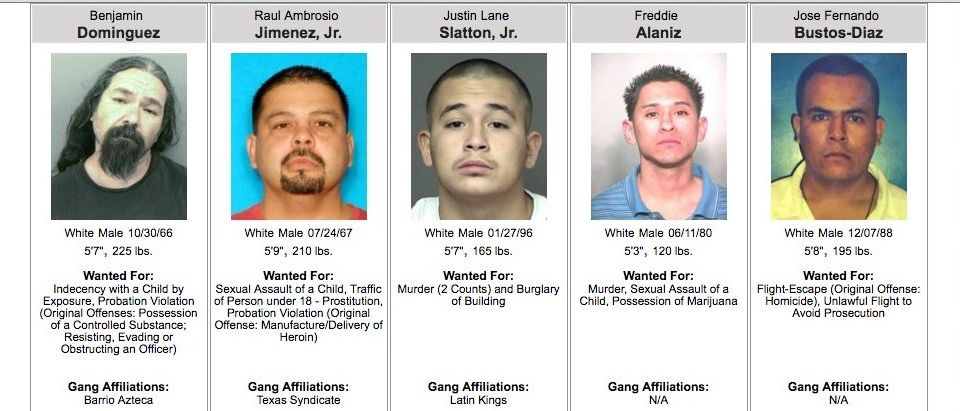 Texas' 10 Most Wanted Fugitives (Texas Department of Public Safety)