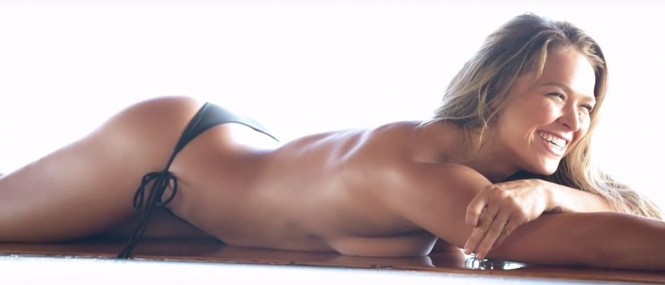 Ronda Rousey (Credit: Screenshot/Youtube Sports Illustrated Swimsuit)