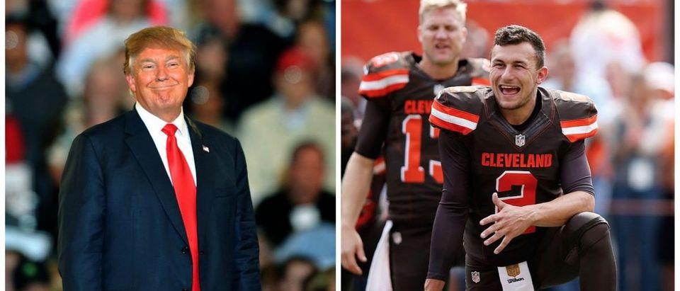 Donald Trump, Johnny Manziel (Credit: Getty Images)