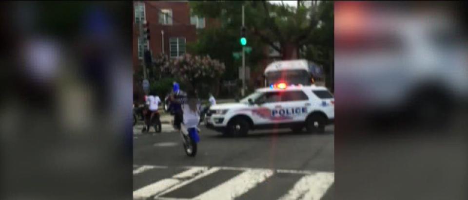 MPD react to ATVs on city streets. (WJLA/Screenshot)