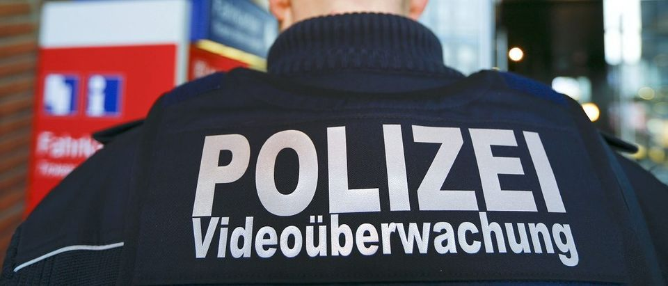 Federal police officer specialized in video surveillance patrols at the main railway station in Cologne