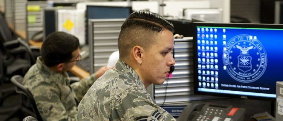 Sr Airman Jose Rivera, infrastructure technician U.S. Air Force, works at the 561st Network Operations Squadron (NOS) at Petersen Air Force Base in Colorado Springs