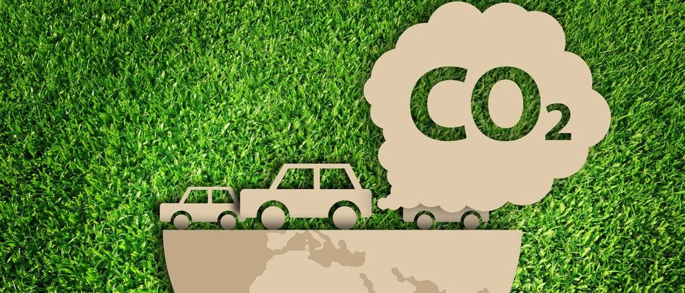 Carbon dioxide. Air Pollution concept