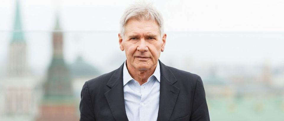 Harrison Ford attends the photo call 'Ender's Game' during the premiere of this film on October 09, 2013 in Ritz Carlton Hotel, Moscow, Russia. [Shutterstock - DenisShumov - 157658918]