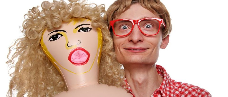 A man and his blow up doll (Shutterstock)