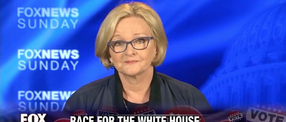 Claire McCaskill, Screen Grab Fox News, 8-14-2016