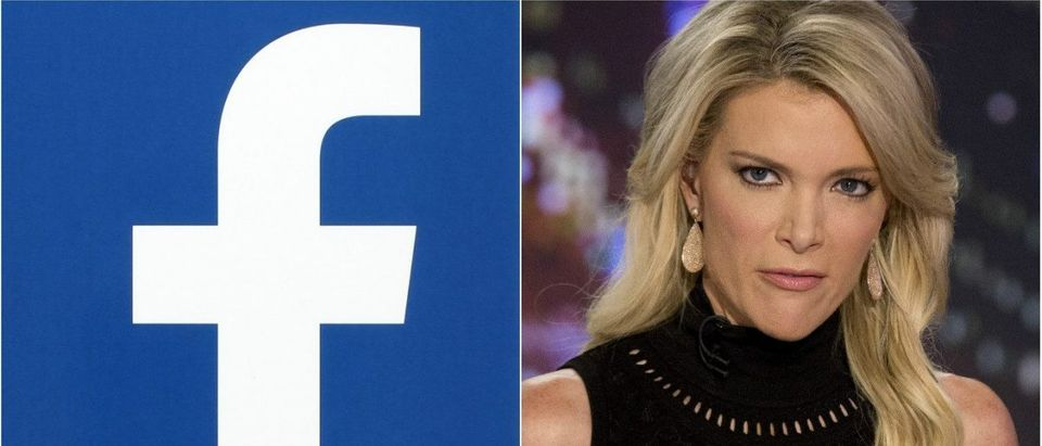 Facebook Logo: rvlsoft / Shutterstock.com, MegynKelly: REUTERS/Brendan McDermid/File Photo