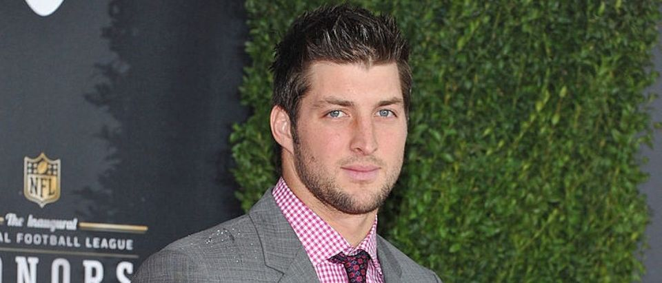 NFL player Tim Tebow of the Denver Broncos attends NFL Honors And Pepsi Rookie Of The Year at Murat Theatre on February 4, 2012 in Indianapolis, Indiana