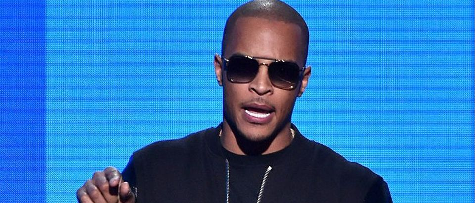 Recording artist T.I. speaks onstage at the 2014 American Music Awards at Nokia Theatre L.A. Live on November 23, 2014 in Los Angeles