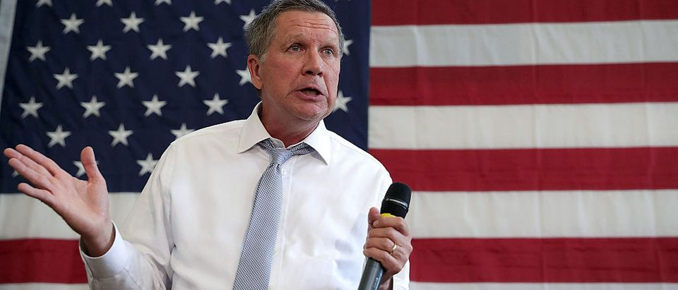 John Kasich speaks during a campaign event April 25, 2016 in Rockville, Maryland. (Getty Images)