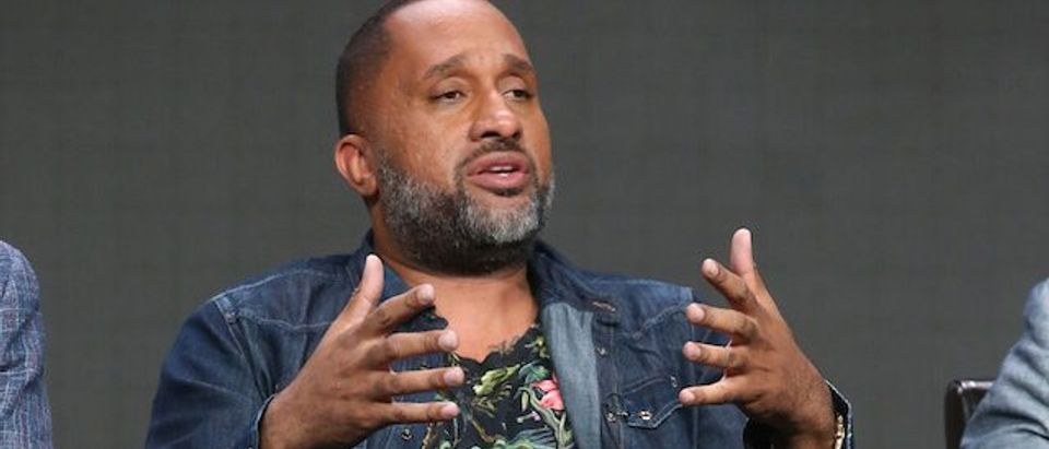 Creator/executive producer Kenya Barris speaks onstage at the 'Black-ish' panel discussion during the Disney ABC Television Group portion of the 2016 Television Critics Association Summer Tour at The Beverly Hilton Hotel on August 4, 2016 in Beverly Hills, California