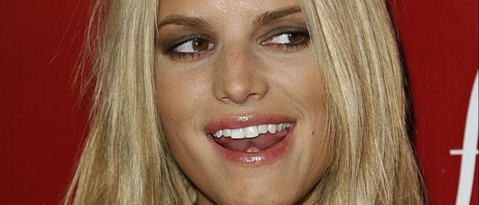 Actress Jessica Simpson arrives at the Frederick's of Hollywood Fall 2007 Collection debut at the Palladium on October 24, 2007 in Los Angeles