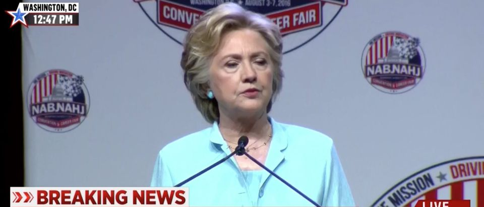 Hillary Clinton, Screen Grab MSNBC, 8-5-2016