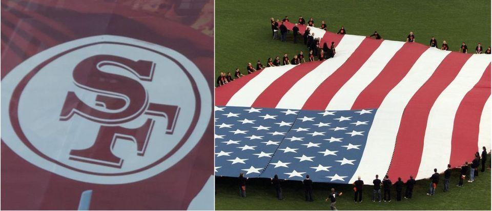 Levi's Stadium: Asif Islamshutterstock.com, American Flag: Eric Broder Van Dykeshutterstock.com