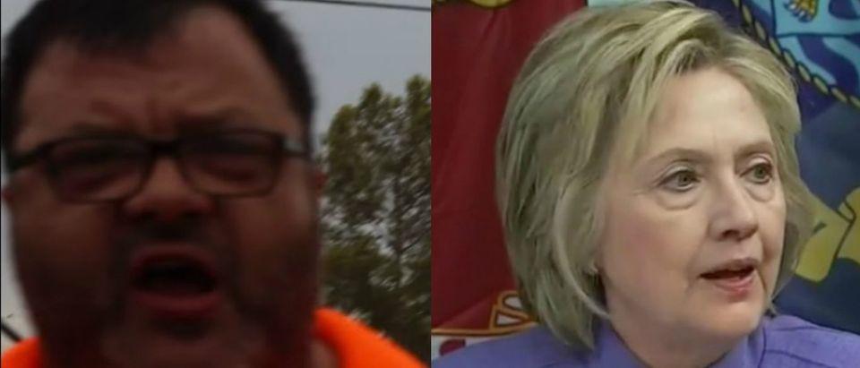 LiUNA, Hillary Clinton, Screen Grabs YouTube, CNN