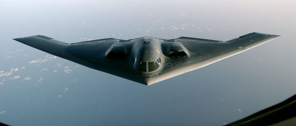B2 SPIRIT BOMBER SEEN AFTER FLYING A MISSION OVER IRAQ.