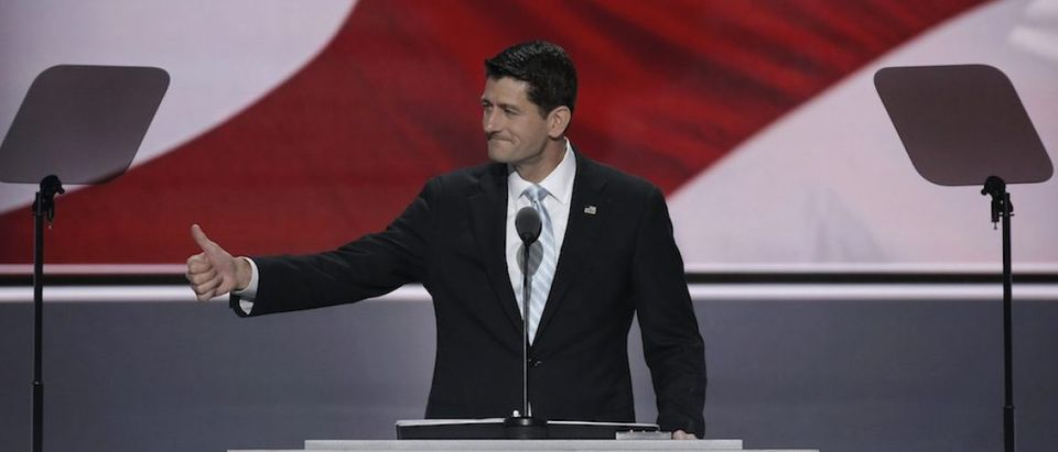 Speaker of the House Paul Ryan speaks at the Republican National Convention in Cleveland, Ohio, U.S. July 20, 2016. REUTERS/Mike Segar -