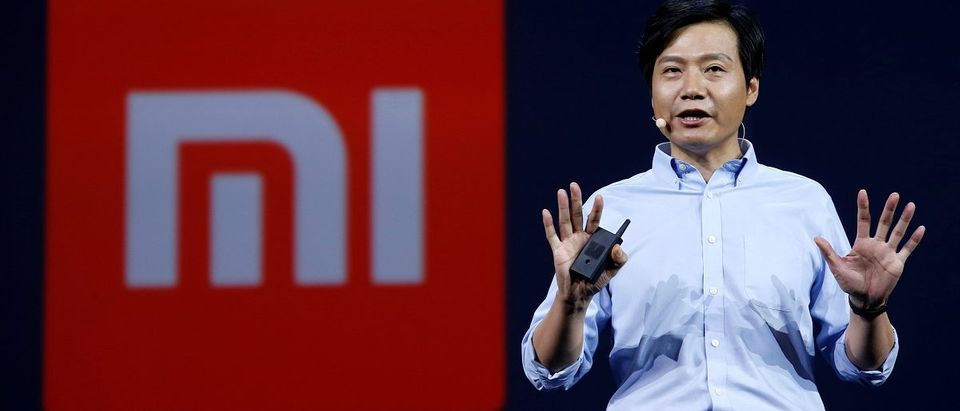 Lei Jun, founder and CEO of China's mobile company Xiaomi, speaks at a launching ceremony of Xiaomi Mi Max in Beijing