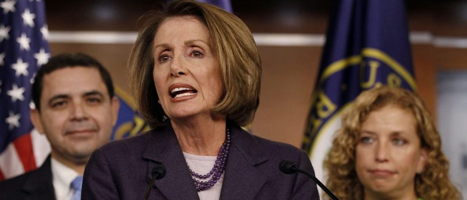 Outgoing Speaker of the House Nancy Pelosi during news conference on Capitol Hill in Washington