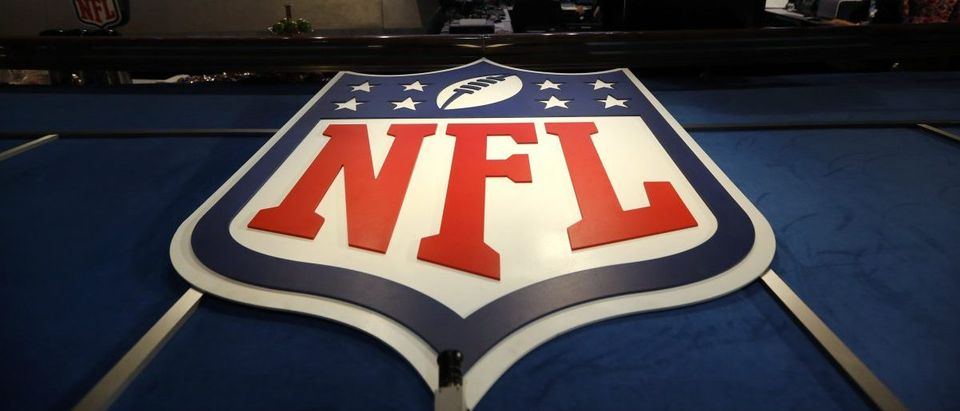 The NFL logo and set are seen at New York's Radio City Music Hall before the start of the 2013 NFL Draft April 25, 2013. The National Football League (NFL) Draft kicks off with first-round selections on Thursday. REUTERS/Shannon Stapleton