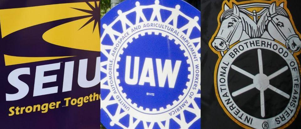 SEIU a.katz/shutterstock.com, UAW Glynnis Jonesshutterstock.com, Teamsters a.katzshutterstock.com 2