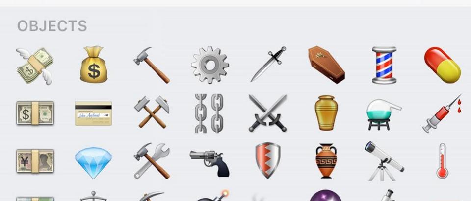 (Iphone-emojis screen shot /Daily Caller/ Kerry Picket)