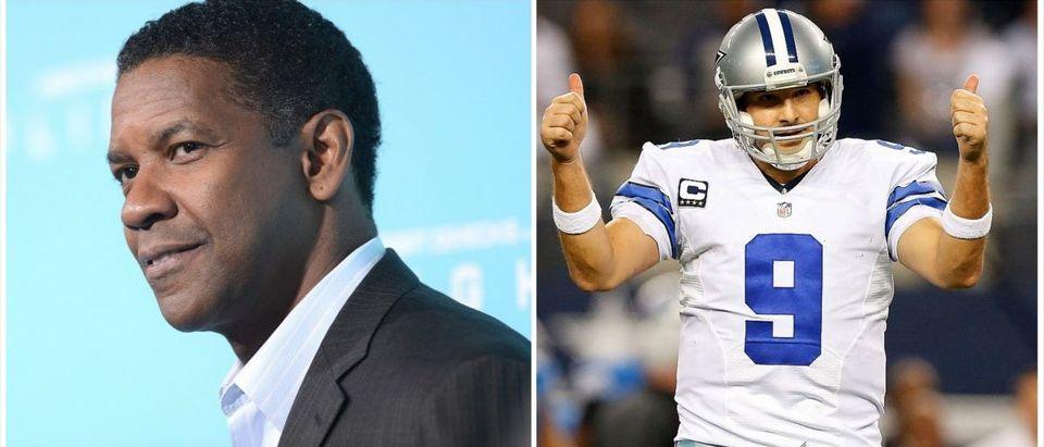 Denzel Washington, Tony Romo (Credit: Getty Images)