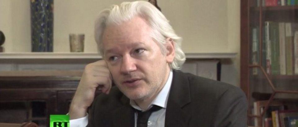 Julian Assange (screenshot: RT)