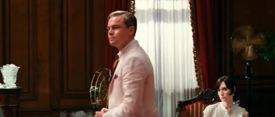 There are many fans in this famous scene in 'The Great Gatsby' (YouTube Screenshot/Warner Bros)