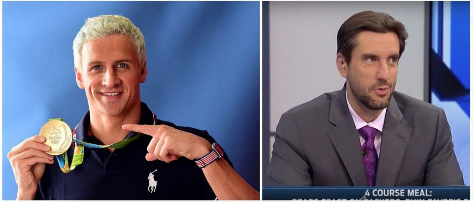 Clay Travis, Ryan Lochte (Credit: Screenshot Fox Sports Youtube, Getty Images)