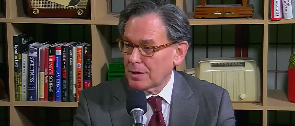 "Sidney Blumenthal interviewed on ""Beyond the Beltway with Bruce DeMont"" (Youtube screen grab)"