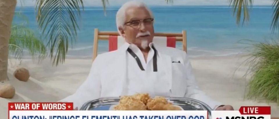 MSNBC airs KFC commercial (MSNBC)