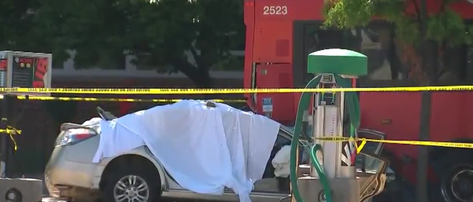 Fatal crash with DC Metrobus. (FOX5/Screenshot)