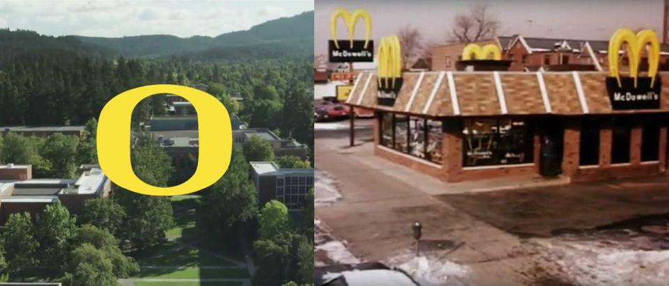 YouTube screesnhot/UOregon, McDowells restaurant in Coming to America YouTube screenshot/Daniele Alessandra