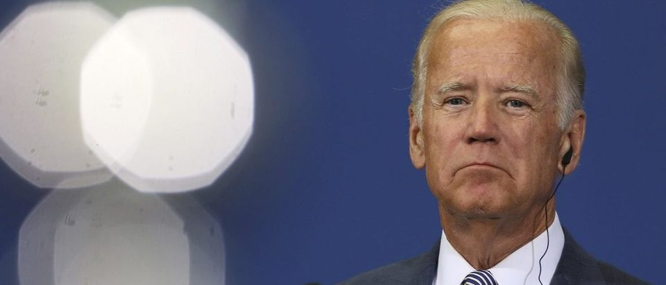 U.S. Vice President Joe Biden attends news conference in Belgrade