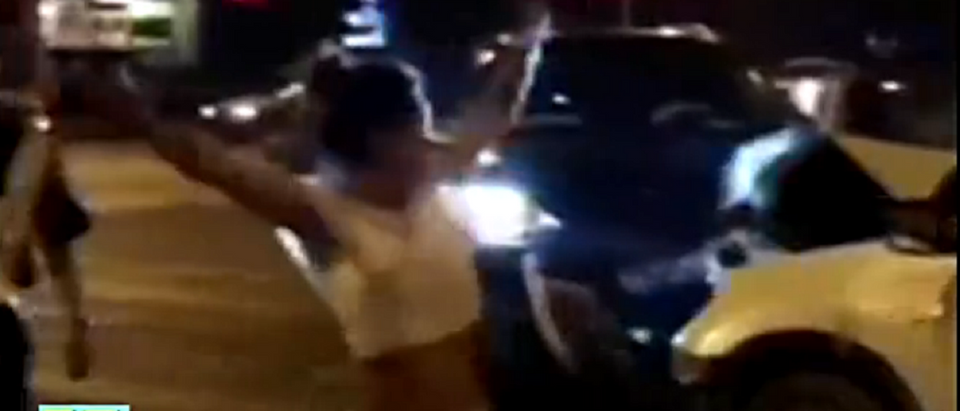 Woman who caused fatal car accident dances beside victim