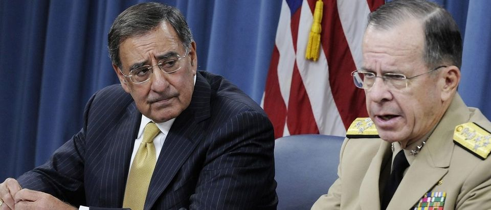 Panetta and Mullen hold their first joint news conference at the Pentagon in Washington