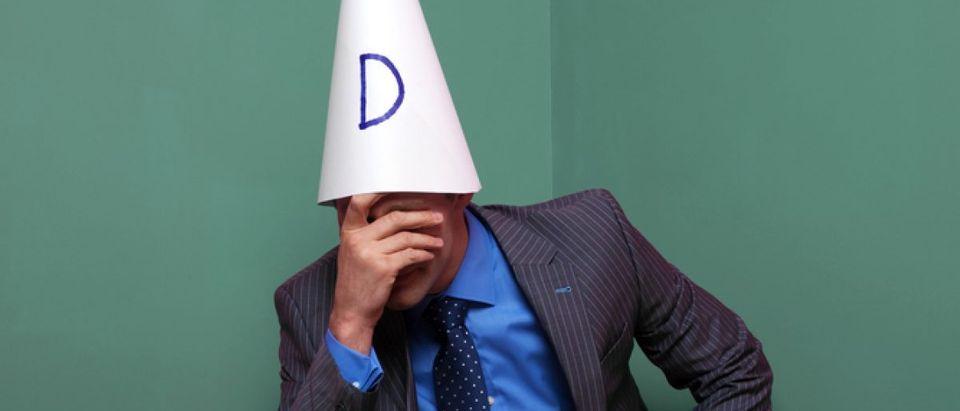 Dunce cap. [Shutterstock/RTimages]
