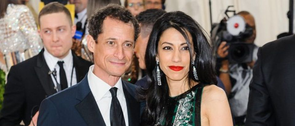 Huma Abedin and Anthony Weiner (Credit: Sky Cinema/Flickr)