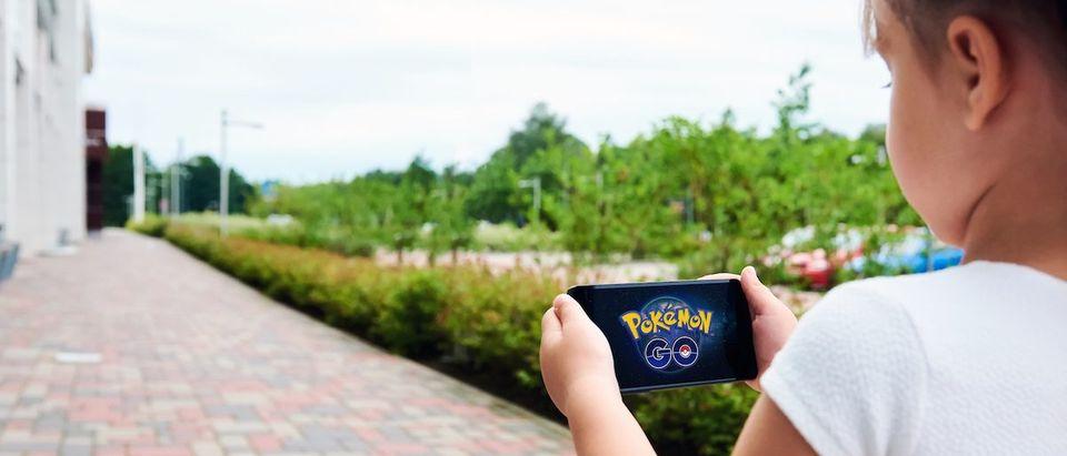 A Girl Plays Pokemon Go
