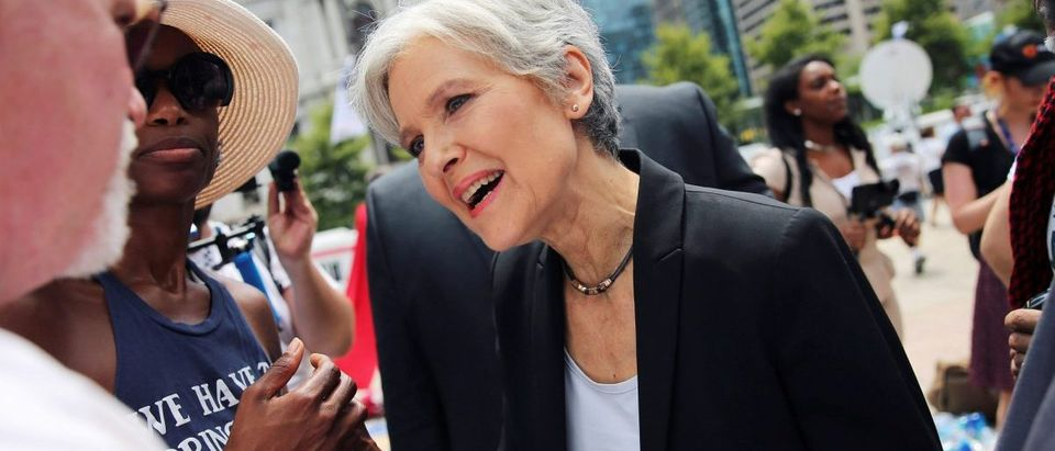 Green Party presidential candidate Jill Stein arrives at a rally of Bernie Sanders's supporters on the second day of the Democratic National Convention in Philadelphia, Pennsylvania, U.S., July 26, 2016. Picture taken July 26, 2016