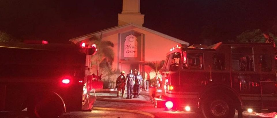 Facebook photo/St. Lucie County Sheriff/Fort Pierce Islamic Center fire