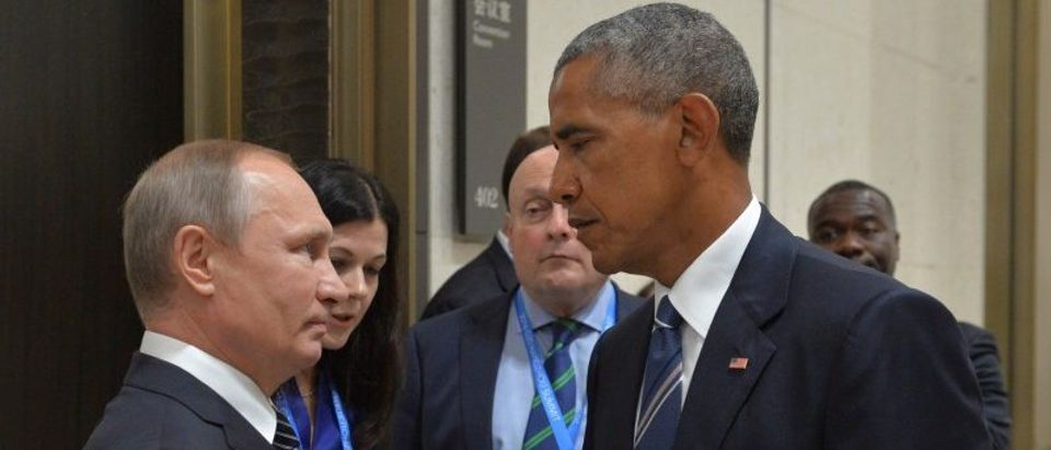 Russian President Putin meets with U.S. President Obama on sidelines of G20 Summit in Hangzhou