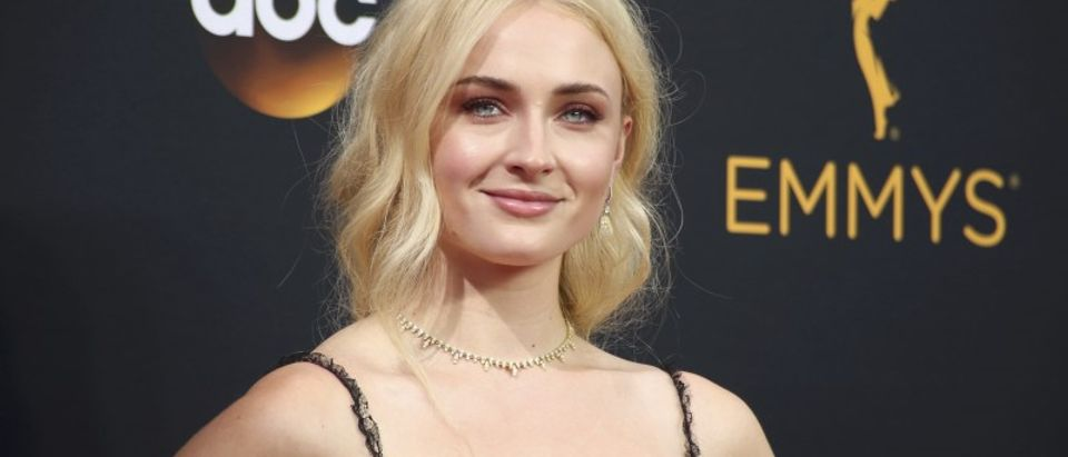 """Actress Sophie Turner from the HBO series """"Game of Thrones"""" arrives at the 68th Primetime Emmy Awards in Los Angeles, California"""
