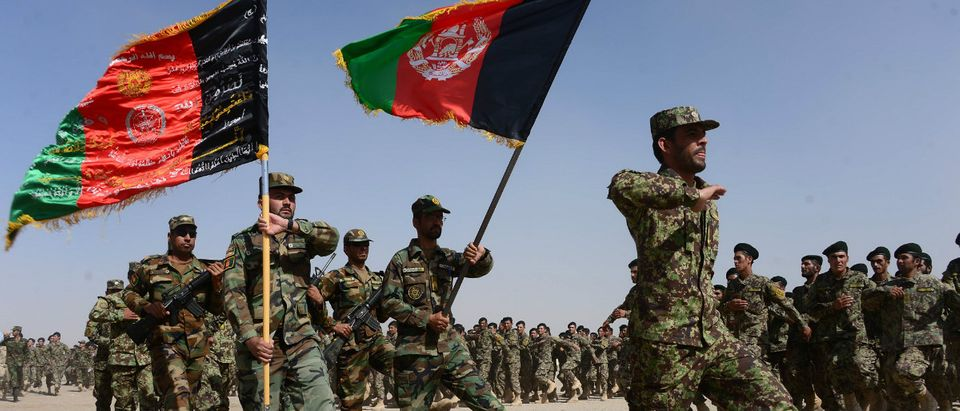 Afghan soldiers AFP/Getty Images/AREF KARIMI