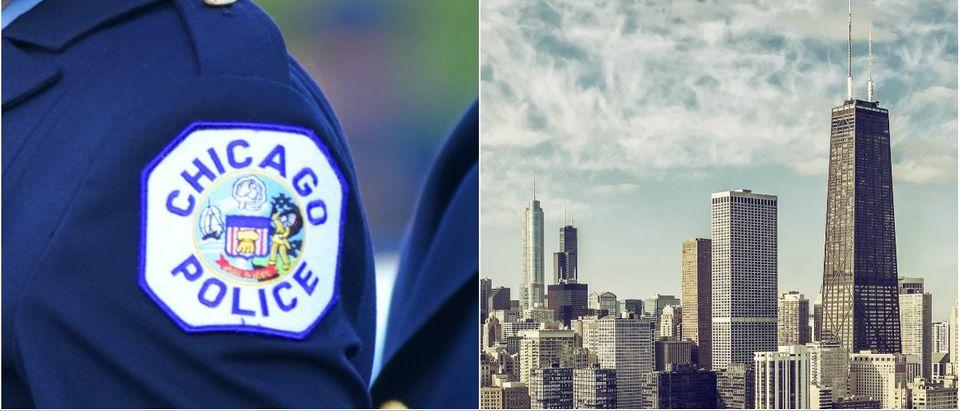 Chicago Police: A Katz/shutterstock.com, Chicago Skyline: marchello74/shutterstock.com