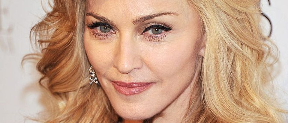 """Singer Madonna launches her signature fragrance """"Truth Or Dare"""" by Madonna at Macy's Herald Square on April 12, 2012 in New York City"""